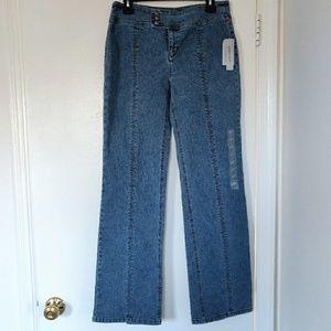 $69 NWT DKNY High Waist Mom Jeans Rear Leg Slit 6